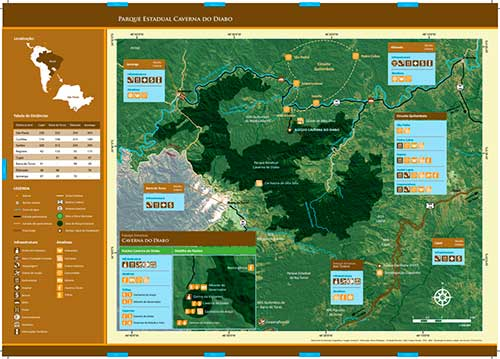 Folder Mapa do Parque Estadual Caverna do Diabo